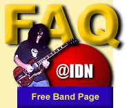 FAQ for Free Band Web Page