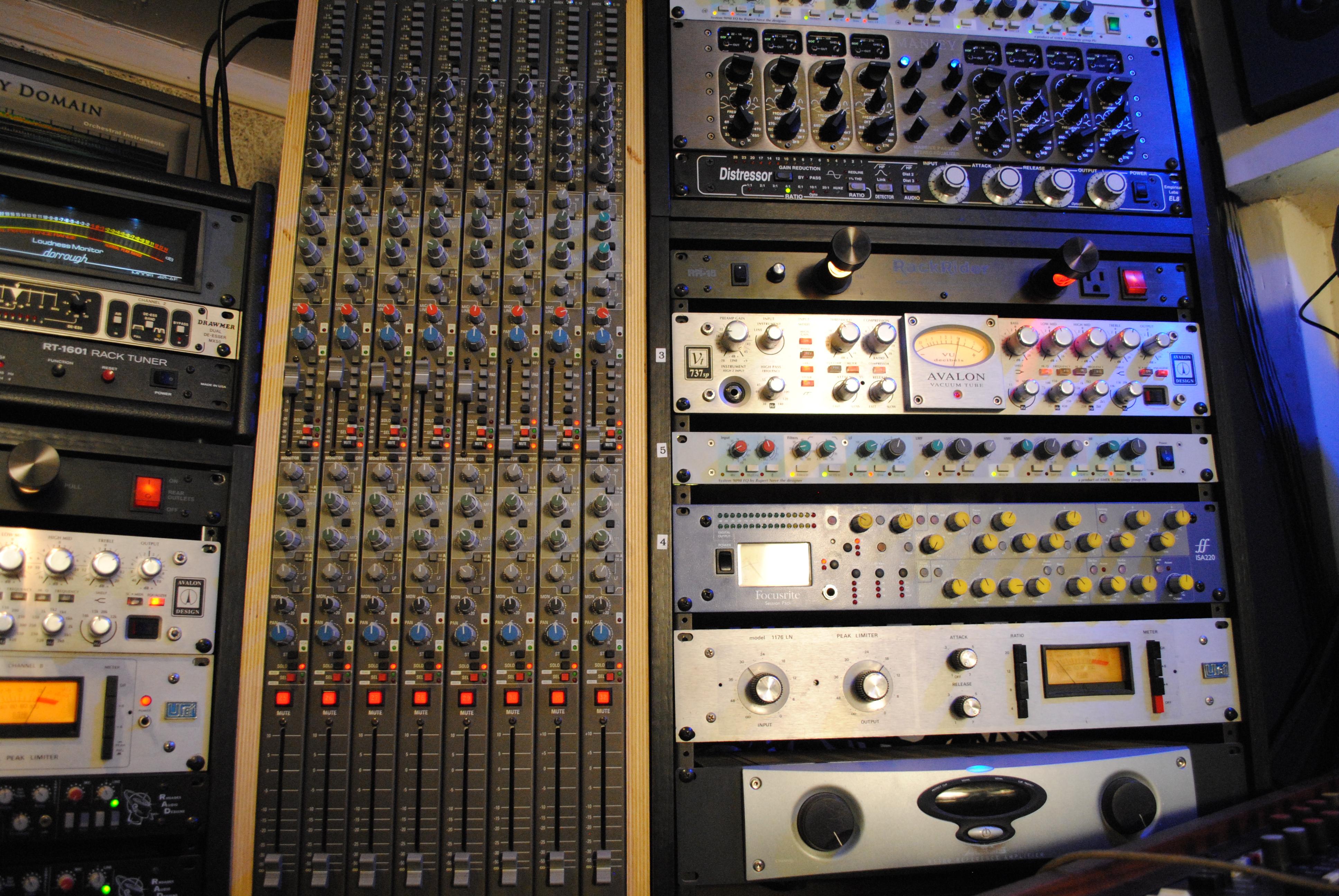 Phoenix Az Full Well Recording Studios Equipment List